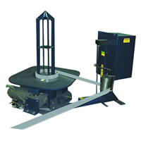 The Model HS pallet decoiler is specifically designed for high-speed rollforming applications.